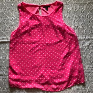 Forever 21 pink w/ white dots blouse tank